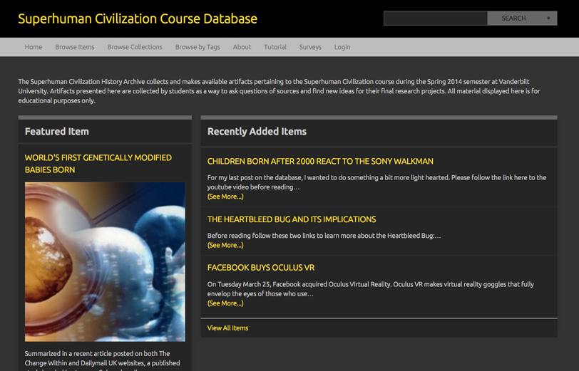 Omeka Database