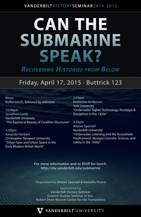 Co-organizer, Workshop: 'Can the sub-marine speak?'